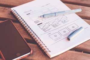 wireframe for website design