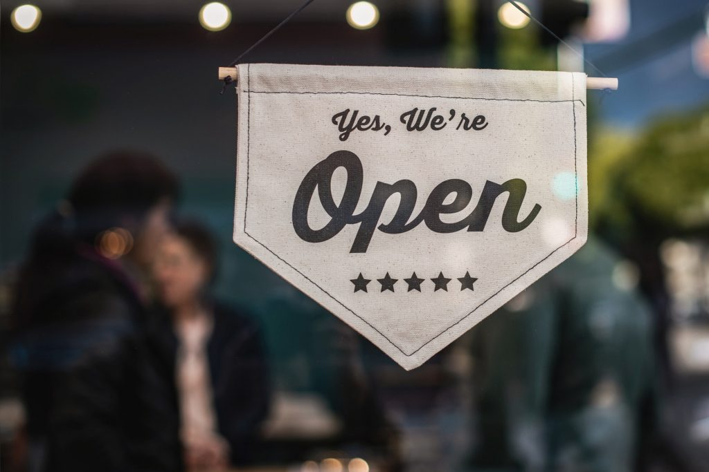 small business open sign